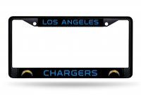 Los Angeles Chargers Black License Plate Frame