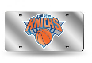 NEW York Knicks Laser Cut License Plate