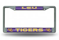 LSU Tigers Glitter Chrome License Plate Frame