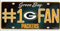 Green Bay Packers #1 Fan License Plate