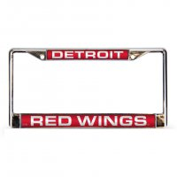 Detroit Red Wings Laser Chrome License Plate Frame