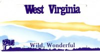 Design It Yourself West Virginia State Bicycle Plate #2