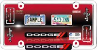 Dodge Chrome Adjustable License Plate Frame