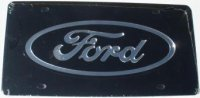 Ford Black Laser Cut License Plate