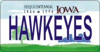 Design It Yourself Iowa State Look-Alike Bicycle Plate