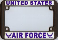 Air Force Vinyl Motorcycle License Plate Frame