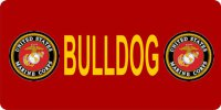 Marine Bulldog Photo License Plate