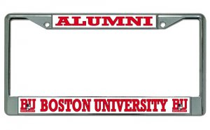 Boston University Terriers Alumni Chrome License Plate Frame