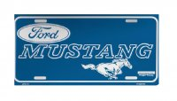 Ford Mustang Blue License Plate