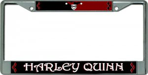 Harley Quinn Chrome License Plate Frame