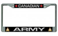 Canadian Army Chrome License Plate Frame