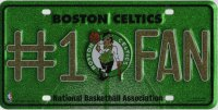 Boston Celtics #1 Fan Glitter License Plate