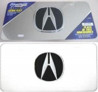 Acura 3-D Chrome Logo Stainless Steel License Plate
