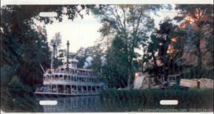 Steam Paddlewheel Photo License Plate