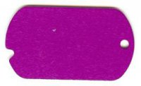 Purple Engravable Blank Dog Tags