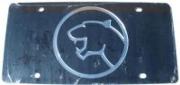 Cougar Black Laser Cut License Plate