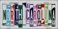 North Carolina Cut Style Metal License Plate