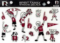 Indiana Hoosiers Family Spirit Decal Set