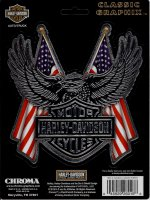 Harley-Davidson Logo With American Flag Decal