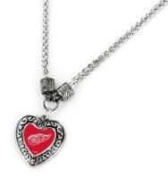 Detroit Red Wings Heart Pendant
