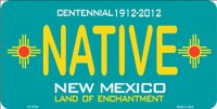 New Mexico Centennial Native License PLate