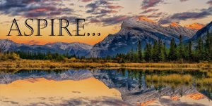 Aspire Mountain Lake Photo License Plate
