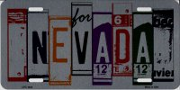 Nevada Cut Style Metal License Plate