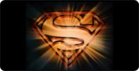 Gold Superman High Gloss Aluminum License Plate
