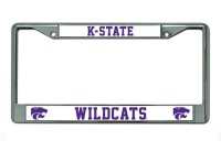 K-State Wildcats Chrome License Plate Frame