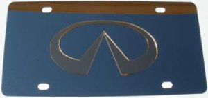 Infiniti Gold Logo Stainless Steel License Plate