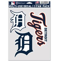 Detroit Tigers 3 Fan Pack Decals