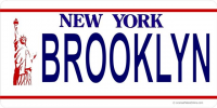 New York Brooklyn Photo License Plate
