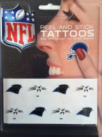 Carolina Panthers 8-PC Peel and Stick Tattoo Set