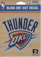 Oklahoma City Thunder Glitter Die Cut Vinyl Decal
