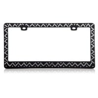 Chevron Diamond Black License Plate Frame