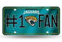 Jacksonville Jaguars #1 Fan License Plate