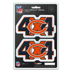 Chicago Bears 4x4 Decal Pack