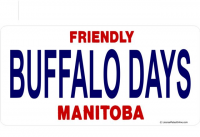 Manitoba Buffalo Days Photo License Plate