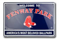Boston Red Sox Fenway Park Metal Parking Sign