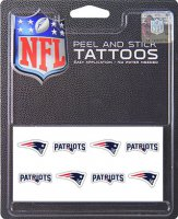 New England Patriots 8-PC Peel and Stick Tattoo Set