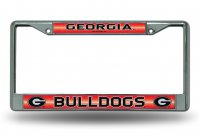 Georgia Bulldogs Glitter Chrome License Plate Frame