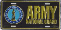 Army National Guard Metal License Plate