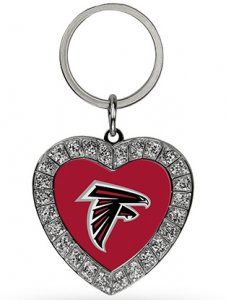 Atlanta Falcons Bling Rhinestone Heart Keychain