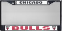 Chicago Bulls Chrome License Plate Frame