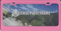 Blank Smooth Pink 2 Hole License Plate Frame