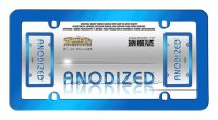 Anodized Blue Metal License Plate Frame