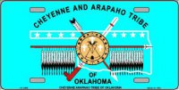Cheyenne Arapaho Flag Metal License Plate