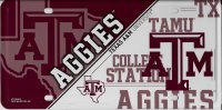 Texas A&M Aggies Metal License Plate