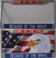 """Home of the Free - Because of the Brave"" Custom Frame"