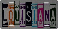 Louisiana Cut Style Metal License Plate
